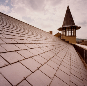 Del Carmen Slate on a church