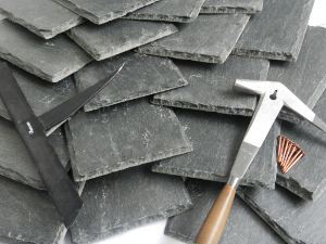Natural Phyllite's satin like luster helps to distinguish it from slate